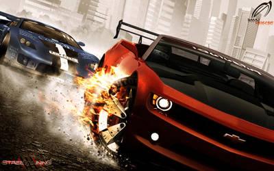 Chevrolet Camaro Tire Burning by SaMuVT