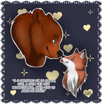 Bear and Fox by KyraBermanelly