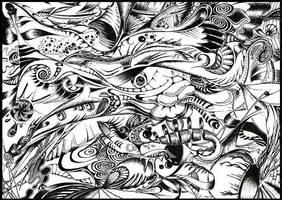 BlacknWhite doodle by floofty87