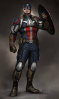 Captain america by PierreBertin