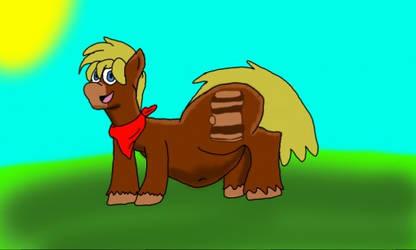Barrel Belly The Pony by ZachAndPopplio