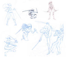 Katanas - Sketches by joslin