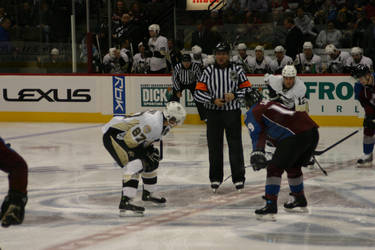 Crosby and Sakic Faceoff by spidermike8787
