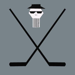 blues brothers hockey skull by spidermike8787