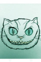 Tim Burton's Cheshire Cat by davidbigler