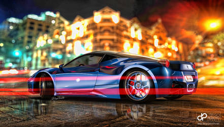 Ferrari 458 'Lightning Blue' w/ HRE 541R by CrazyPXT