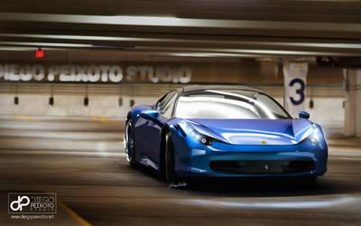 Ferrari 458 'Lightning Blue' Parking Lot by CrazyPXT