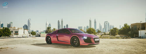 An ordinary pink Audi R8 by CrazyPXT