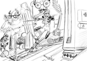 Ninjas and machines! by kur0s4k1