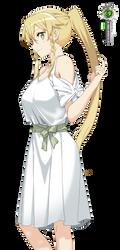 Sword Art Online:Leafa Cute Dresss Coloring Vector by OtakuRenders-Service