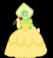 Gem Princesses - Peridot as Belle by Tira--Misu
