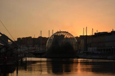 A sunset in Genova by nazgulXVII