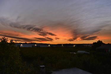 A very orange sunset by nazgulXVII