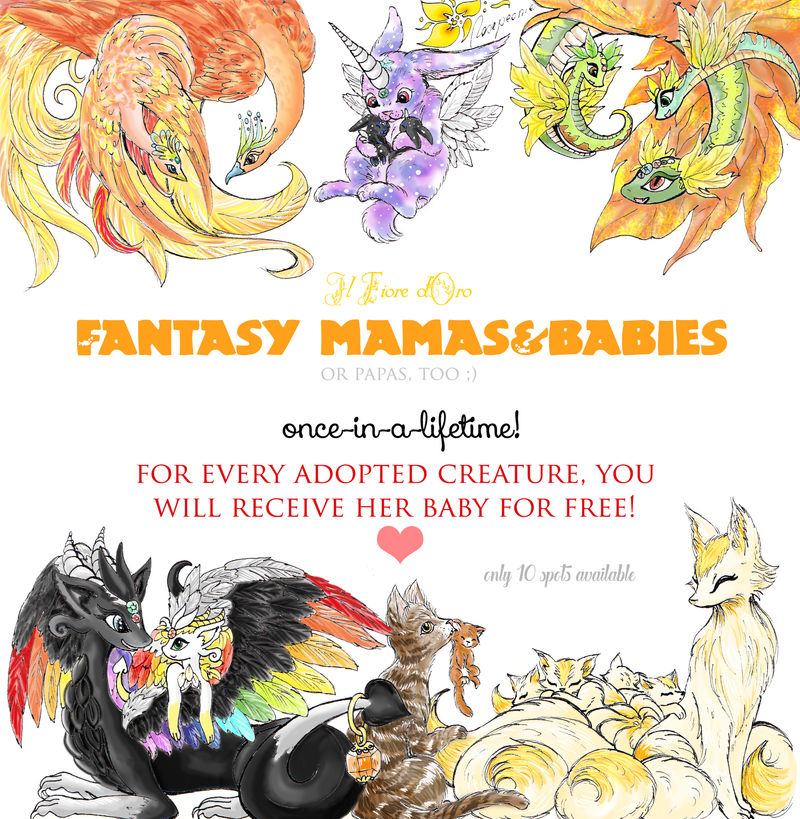 Fantasy mamas and babies PROMO! by rosepeonie