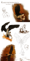 Raised From Perdition sketchdump by Beginte