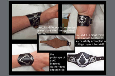 assassins creed bracelet by MerrillsLeather