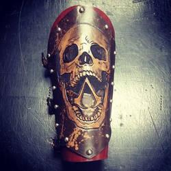 Assassins Creed Skull Vambrace by MerrillsLeather
