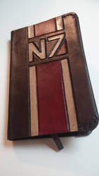 N7 Mass Effect Leather Moleskin Cover by MerrillsLeather