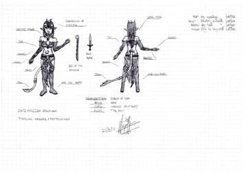 Character Concept Art: Infryndiira Zolfura by Antartis