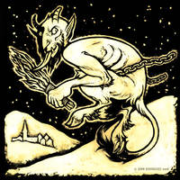 Krampus by grungepuppy