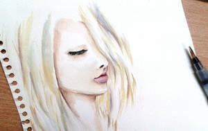 Watercolor Practice by Toyona