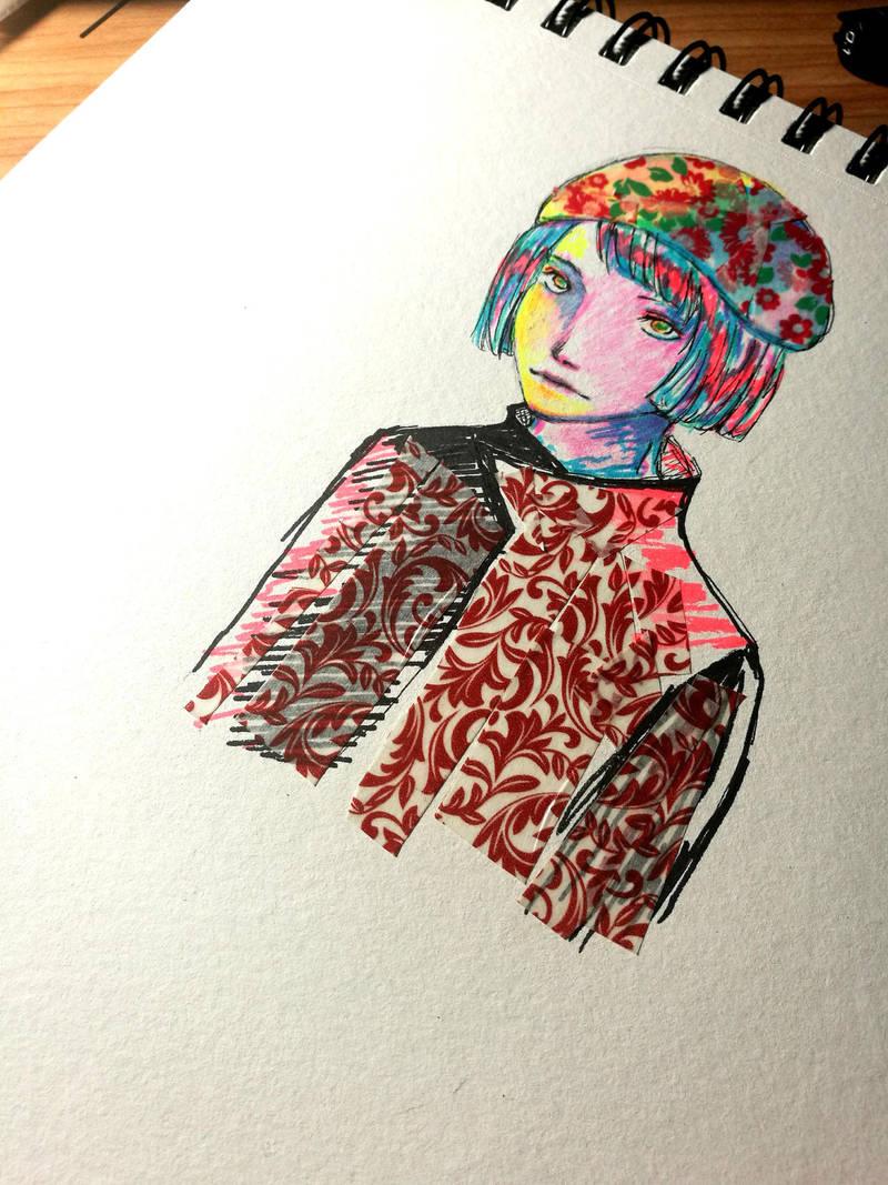 Random highlighter doodle by Toyona