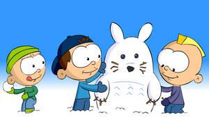 Snow Totoro by blu3smok3