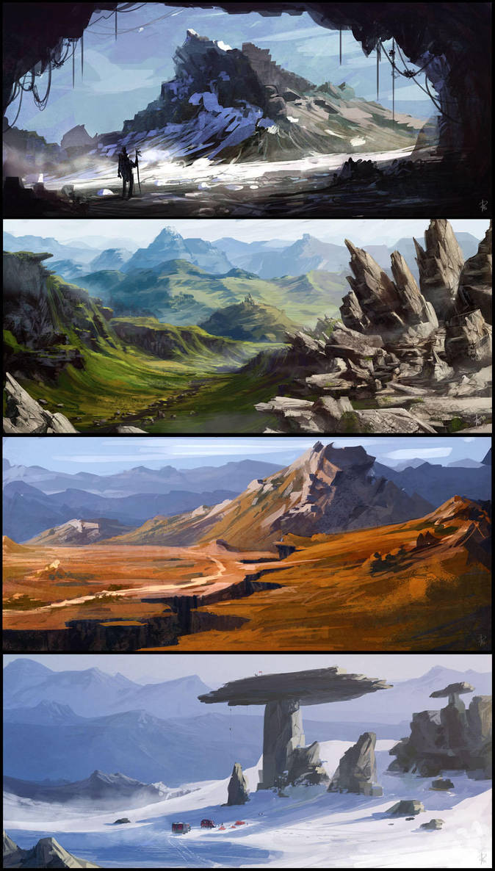 enviroment speed painting