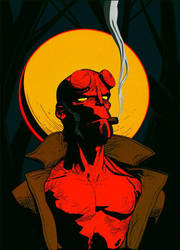 Hellboy FanArt BPR by Pablander