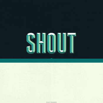 Shout iPad Wallpaper by fudgegraphics