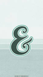 Ampersand iPhone Wallpaper by fudgegraphics