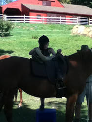 Me getting on a Horse by sugarbabbie