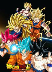 Son Goku form of super saiyan by luckyal77