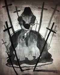 Inktober Day 4: Mourning by KuudesSilma