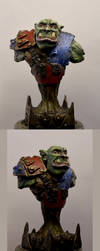 Ork of the Deathskullclan Bust by troll1980