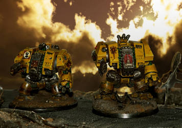 Imperial Fists Dreadnoughts by troll1980