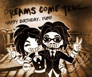 Happy Birthday, Yumi! (Bendy OC's)(Gift) by Zer0-Stormcr0w
