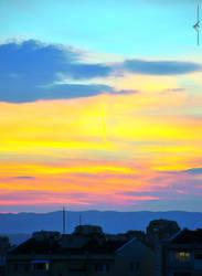autumn sunset by baybora