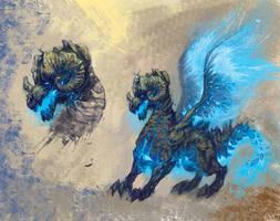 earthquake dragon by RMBDarkmyth