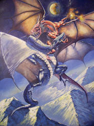 Unfinished Fighting dragons by RMBDarkmyth