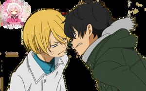 Anime render Haru And Yamaken by ByakuranMarshmallows