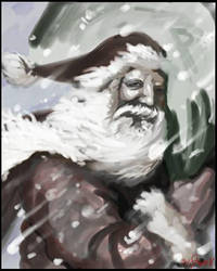 Santa Clause in Snow Storm by radioactiveroach