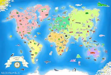 World Map by BeckyBumble