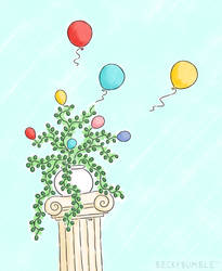 The Balloon Plant by BeckyBumble