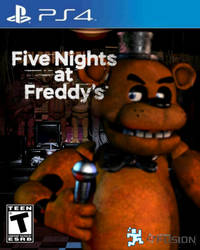 Five Nights At Freddy's PS4 Cover (Fanmade) by BonnieGamer568