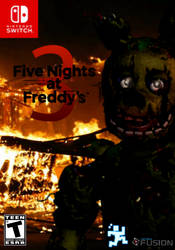 Five Nights At Freddy's 3 Switch Cover (Fanmade) by BonnieGamer568