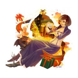 Merry christmas~!/ bioshock infinite elizabeth by spowys