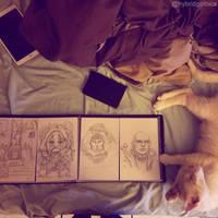 Cat + Portfolio by hybridgothica