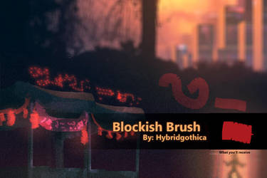Blockish Brush By Hybridgothica. by hybridgothica