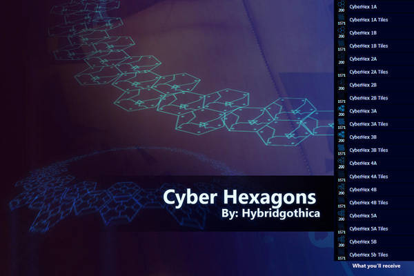 Cyber Hexagons By Hybridgothica. by hybridgothica